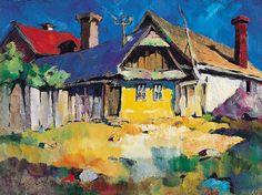 Nagy Oszkár 1883-1965 Street in Nagybánya 39×53 cm