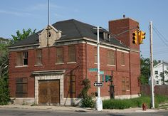 Abandoned Fire Station in Highland Park, Michigan.