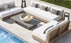 Modern Outdoor Sofas, Outdoor Couch, Indoor Outdoor Rugs, Outdoor Seating, Outdoor Spaces, Outdoor Living, Outdoor Decor, Outdoor Furniture Design, Luxury Furniture