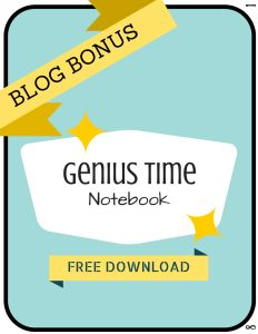 FREE Download of the Genius Hour notebook.  Students keep their notes all together in one place. Blog post tells about the notebook and how to use it.