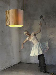 Translucent Ash Wood Lamp | Captivatist