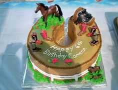 Horse Shoe Cake By GG's Creative Creations