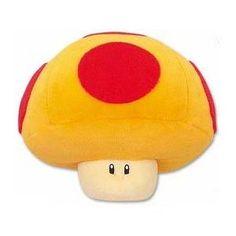 """Super Mario Brothers 6"""" Mega Mushroom Plush"""