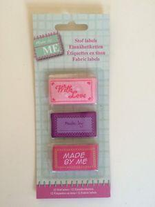 12 Stofflabel Einnähetiketten Etiketten Tilda Rosali Stoff Nähen Handmade Label | eBay