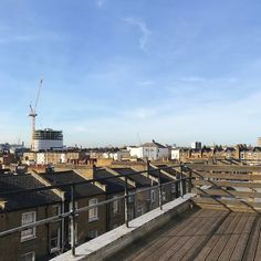 Monday meeting out on the sunny roof terrace #newstudio #dalston #roofterrace #hello #rio #markandfold #busyday #andnowtowork #stationery #makingday #blueskies #london #spring