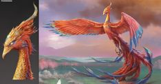 Phoenix Artwork, Phoenix Drawing, Fantasy Dragon, Fantasy Art, Big Cats Art, Phoenix Design, Legends And Myths, Creature Concept, Monster Art