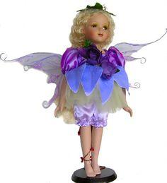 Fairy Porcelain Dolls-Fairy Dolls-Angel Porcelain Dolls-FAIRY Porcelain Doll By Cathay Collection-Elmarie