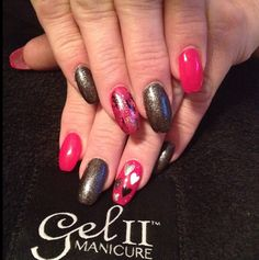 Be My Valentine Design done by @gel_two Educator @rachell_rachell using Polish II French white, midnight black, Anniversary, and Baby Pink! #polish2 #polish #polishii #polishtwo #nails #mani #hearts #valentinesday #valentines #valentinenails