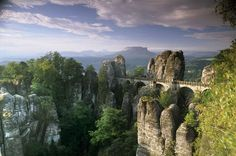 Bastaysky Bridge, Saxon Switzerland, Germany.
