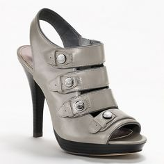 Coach Sandra gray heel