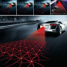 Car Anti Collision Rear-end Tail Fog Light Auto Brake Lamp Warning Durable H-Q Y