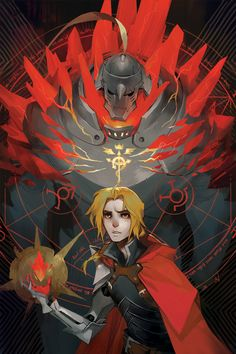 Red Lyrium ||| Alphonse and Edward Elric ||| Fullmetal Alchemist + Dragon Age Fan Art by fayren on Tumblr