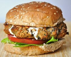 Aubergine burger. My favourite vegan burger! I used traditional rolled oats (gluten free) instead of breadcrumbs, walnuts instead of pine nuts chickpeas instead of beans and white onion instead of red onion!
