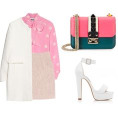 Untitled #2941 by suhling on Polyvore featuring Moschino, MANGO, Mary Katrantzou, Forever New and Valentino