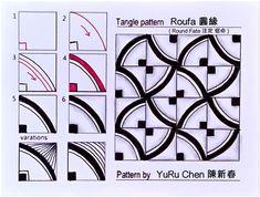 Zen Doodle Patterns, Zentangle Patterns, Tangled Flower, Pattern Design Drawing, Zentangle Drawings, Zentangles, Relaxing Art, Texture Drawing, Tangle Art