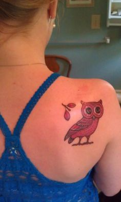 Athena's Owl tattoo