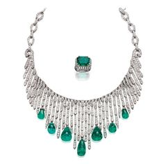 20th Century Jewelry and the Icons of Style, Southeby's, necklace, ring, diamonds, emeralds