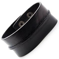 6e8f71a251a1 R B Bijoux - Bracelet de Force Unisexe pour Homme et Femme - Ajustable  Vintage - Fermeture Pressions - Manchette Extra Large Cuir (Noir)  Amazon.fr   Bijoux