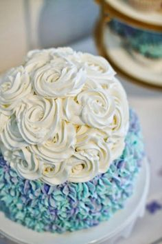 Hydrangea Cake for Georgia's first birthday