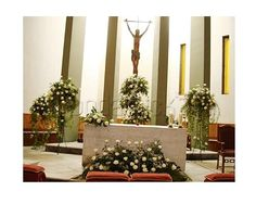 Hermosa decoración para la iglesia / bodas