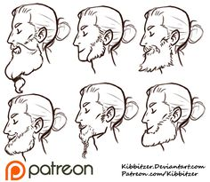 Beards reference sheet by *Kibbitzer Long live the beeeeeard! I really wanted to draw this one! It's difficult to draw them..I had to learn…