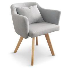 Lot de 2 fauteuils scandinave confortable avec accoudoirs Le ...