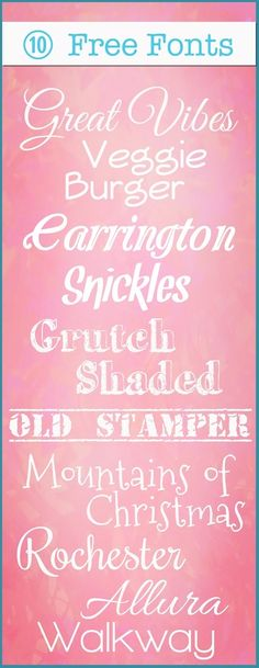 Free Fonts - Click image to find more Art Pinterest pins