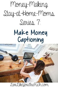 Type out captions to earn additional income from home—or anywhere with wifi. This is a great interview with a mom who explains how she makes money typing out captions. It looks like the company is taking on more captioners too! I'm excited to apply and start making money from home.