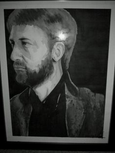 Watercolor painting of Peter Hook from Joy Division