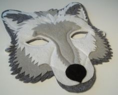 Light Grey Wolf Mask Felt Animal Mask by The Kid'z Clothes Line https://www.etsy.com/listing/220158089/light-grey-wolf-mask-felt-animal-mask?ref=shop_home_active_15