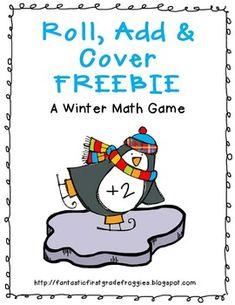 Penguin Roll, Add and Cover FREEBIE - Renee Dooly - TeachersPayTeachers.com