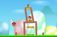 Angry Süper Mario oyunu, hepimizin bildiği Angry Birds oyununun Mario için uyarlanmış versiyonudur. Bu oyunda Mario ikonlarını vurmak için sapanla mantar fırlatın ve zorlu bölümleri geçmeye çalışın.