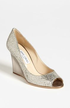 Jimmy Choo 'Baxen' Wedge Pump available at #Nordstrom Actually looks like it would be comofrtable!