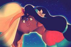 Aladdin&Jasmine kiss