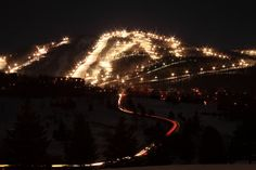 Ski Bromont night long exposure | Flickr: partage de photos!