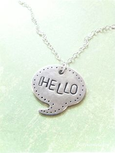 speech bubble pendant