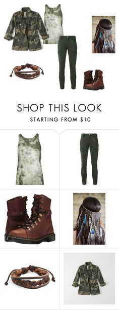 """""""Camo Chick"""" by heyitsfern on Polyvore featuring Enza Costa, J Brand, Dr. Martens, Collections by Hayley, West Coast Jewelry and Abercrombie & Fitch"""