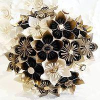 Paper Flowers Bouquet origami bridal UK Gothic by PaperBouquetsUK Paper Flowers Wedding, Origami Flowers, Flower Bouquet Wedding, Wedding Paper, Bridal Bouquets, Bridesmaid Bouquets, Paper Bouquet, Diy Bouquet, Origami Bouquet
