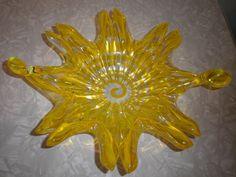 Vintage Murano Glass Italy Mid Century Free Form Bowl Vaseline Spiral  #Unknown #MidCenturyModern Vaseline Glass, Alter Ego, Have Some Fun, Murano Glass, Vintage Home Decor, Midcentury Modern, Spiral, Glass Art, Mid Century