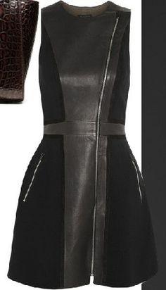 leather dress #MillionDollarShoppersDanielle