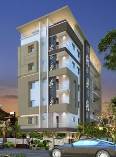 Stanch Properties is a construction company with diversified operations in to General and Industrial Civil contracts 3 Storey House Design, Bungalow House Design, House Front Design, Modern Apartment Design, Modern House Design, Residential Architecture, Modern Architecture, Home Building Design, House Elevation