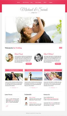 beautiful wedding website