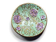 Pastel Mint & Lavender Wedding Ring Holder Handmade by BeadazzleMe