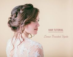 Hair Tutorial Loose Braided Updo #watters #wedding #updo www.pinterest.com/wattersdesigns/