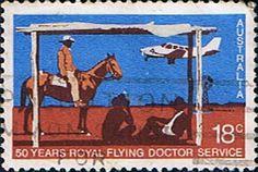 Australia 1978 Royal Flying Doctor Service stamp #18cents #Australia #1978