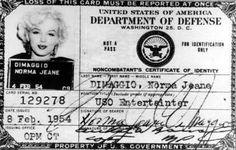 marilyn monroe's id card