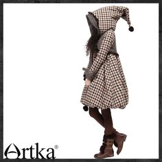 Aliexpress.com : Buy Artka Women'S White Duck Down Ink Print Floral Handmade Beading Wide Waisted Thickening Chiffon Winter Down Coat 2 ZK10...