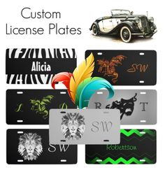 """""""Custom License Plates"""" by kashmier ❤ liked on Polyvore featuring arte"""