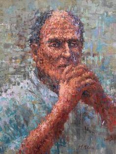Original People Painting by German Jaramillo-mckenzie Oil On Canvas, Canvas Art, Impressionism Art, Saatchi Art, Original Paintings, Portrait, Artist, German, People