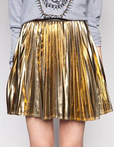 Sharp pleats to reflect those golden threads. Lightbeam skirt by ...